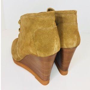 Tesori Shoes - Tesori New (11) Camel Color Suede Wedge Bootie